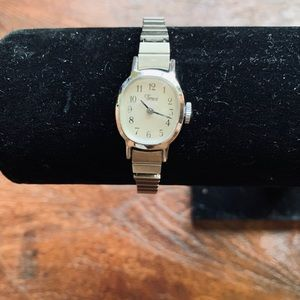 Vintage Timex watch with stretch band